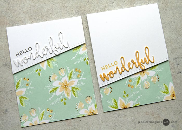 Stamped Background Video by Jennifer McGuire Ink