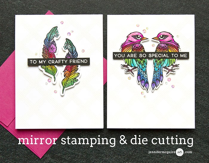 Mirror Stamping Video by Jennifer McGuire Ink