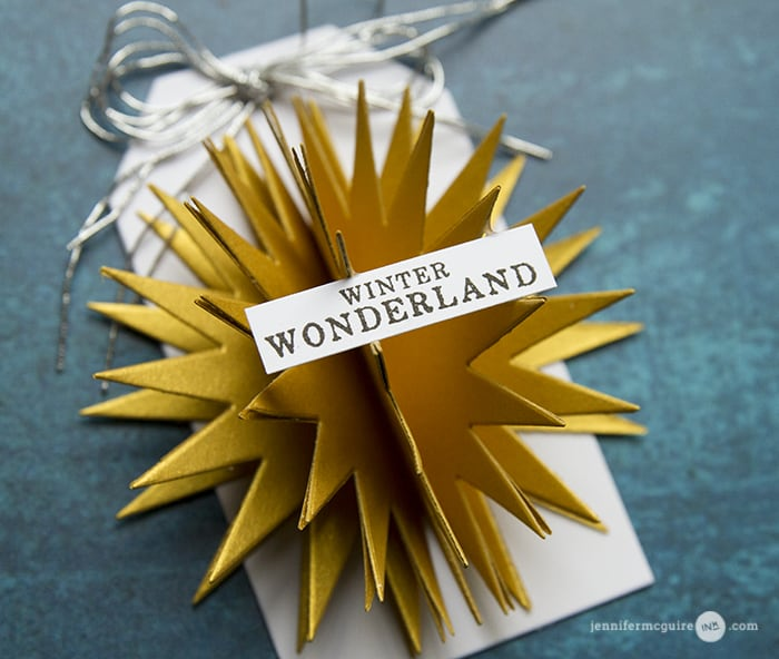 3D Die Cut Tag by Jennifer McGuire Ink
