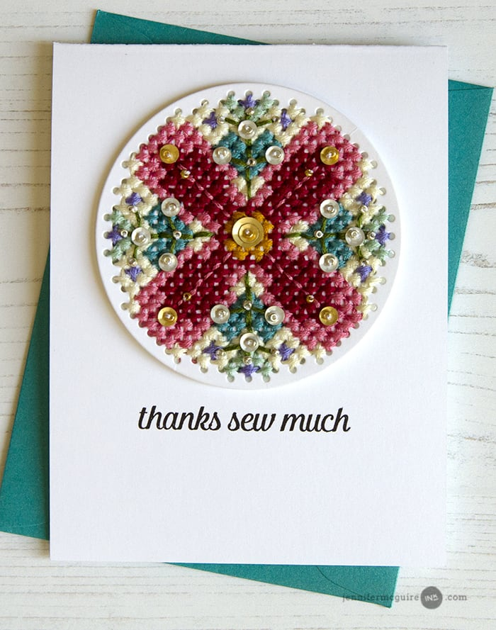 Stitching on Cards Video by Jennifer McGuire Ink