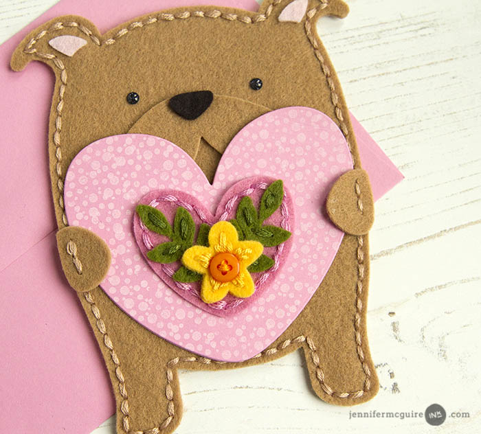 Stitched Shaped Cards Video by Jennifer McGuire Ink