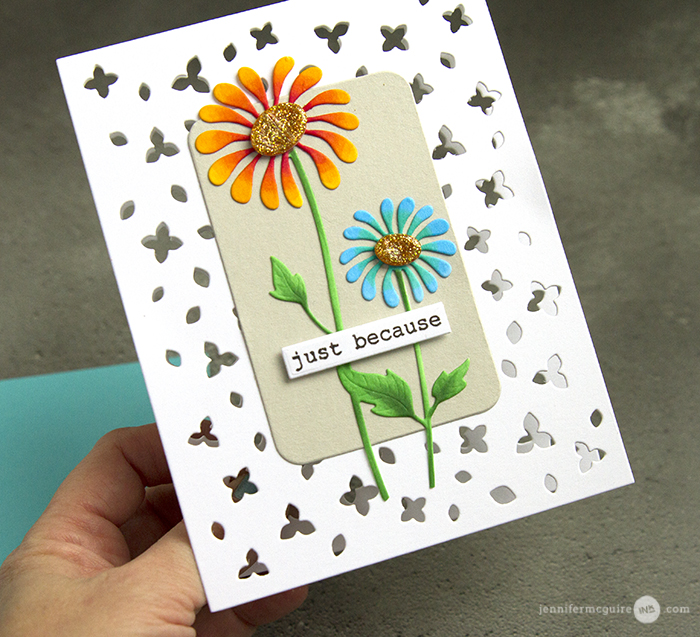 See Through Die Cut Card Video by Jennifer McGuire Ink