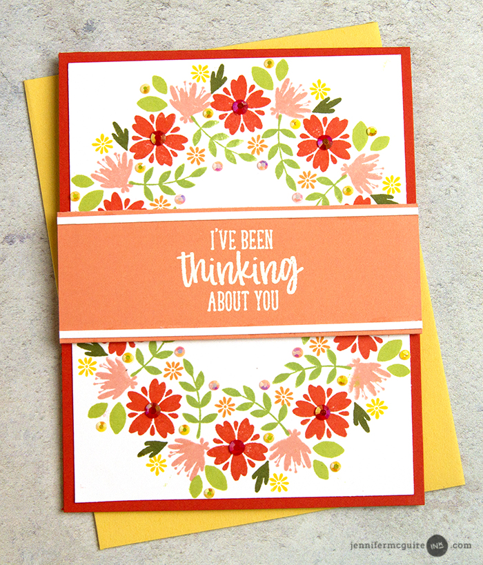 Wreath Builder Stamping Video by Jennifer McGuire Ink