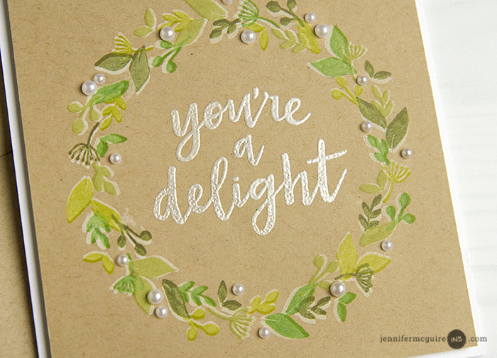 Kraft Cardstock Technique Video by Jennifer McGuire Ink
