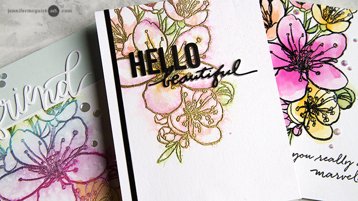 Easy Watercolor Stamping Techniques - Jennifer McGuire Ink