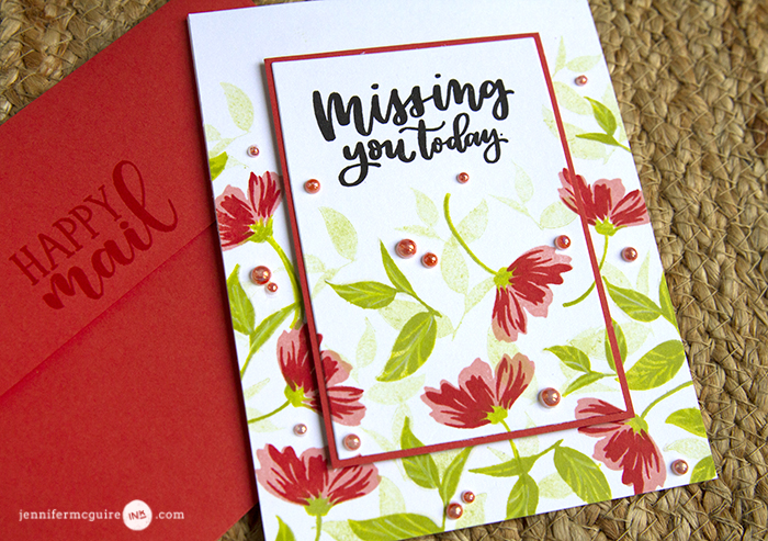 Custom Stamp Layering Video by Jennifer McGuire Ink