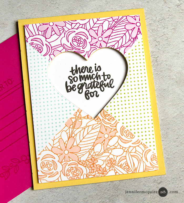 Creative Background Stamps Video by Jennifer McGuire Ink