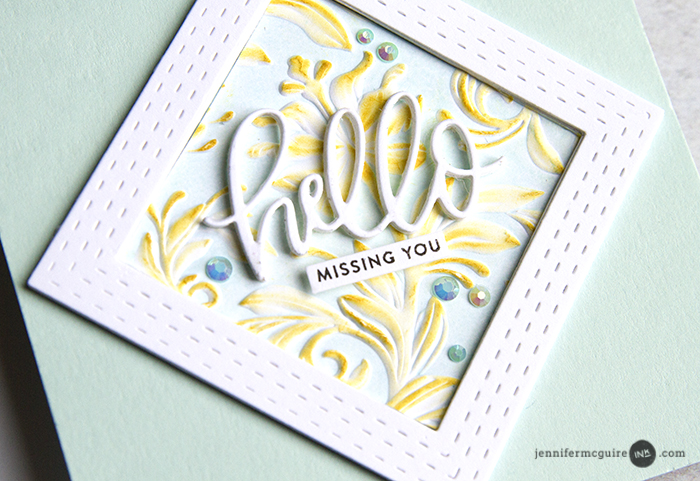 Creative Uses of Embossing Folders - Jennifer McGuire Ink