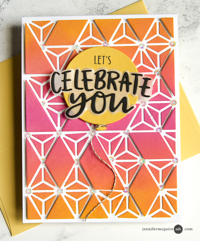 Dimensional Background Die Cuts Video by Jennifer McGuire Ink