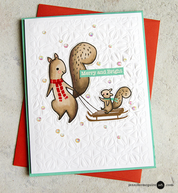 Stamp and Die Cut Inlay Video by Jennifer McGuire Ink
