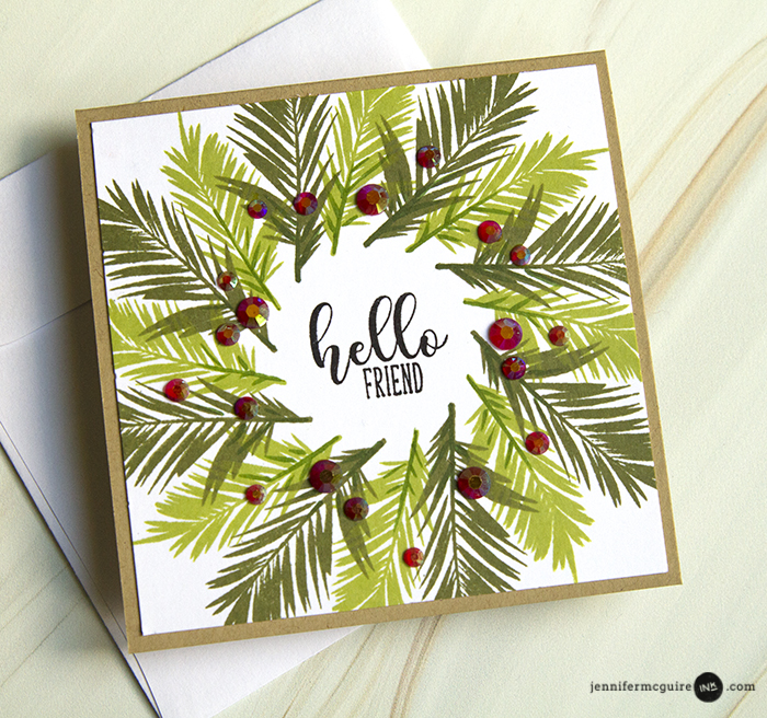 Wreath Builder Video by Jennifer McGuire Ink