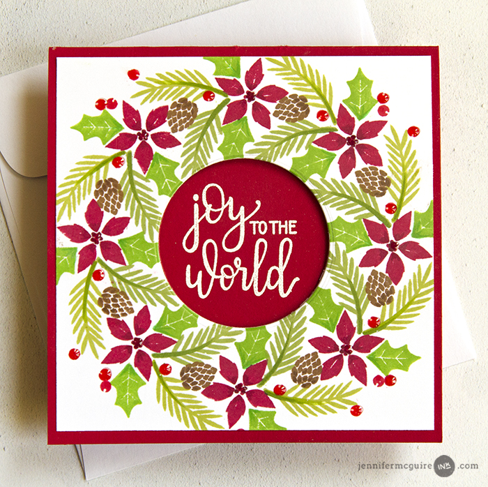 Wreath Builder Cards Video by Jennifer McGuire Ink