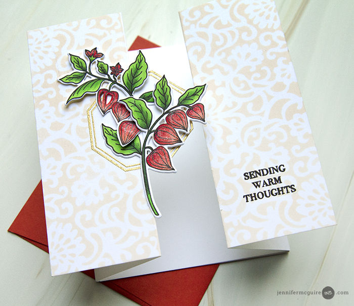Double Gatefold Card Video by Jennifer McGuire Ink