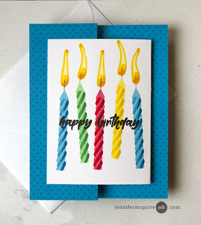 Double Z Fold Cards Video by Jennifer McGuire Ink