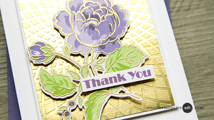 Metallic Stencilling Video by Jennifer McGuire Ink