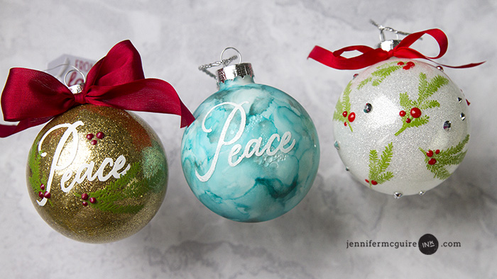 Alcohol Ink Christmas Ornaments.Glitter Alcohol Ink Ornaments Jennifer Mcguire Ink