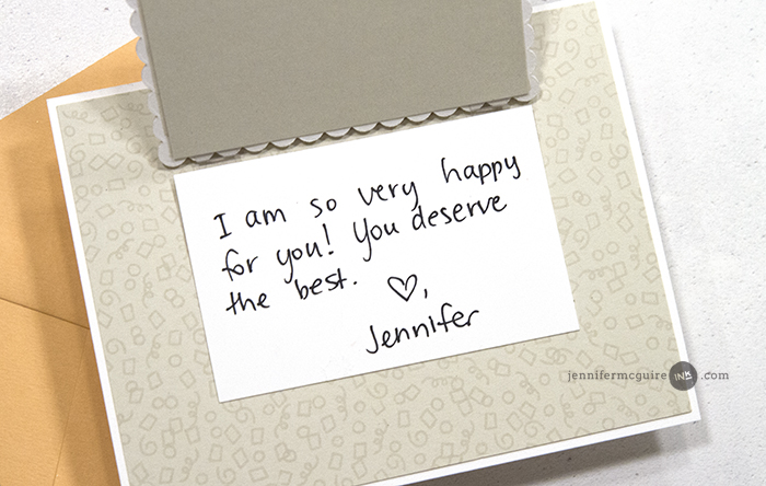 Hinged Die Cut Greeting Cards Video by Jennifer McGuire Ink