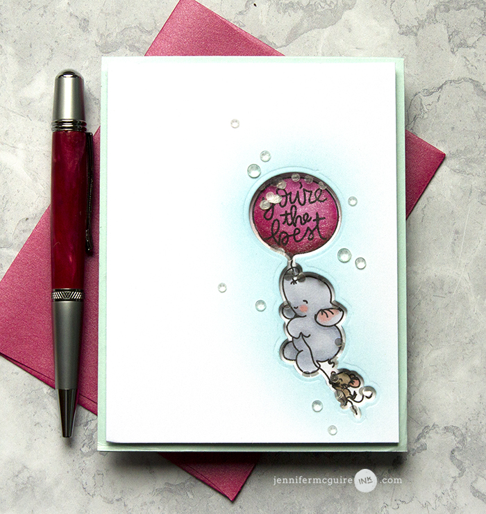 Stamped Shaker Card Video by Jennifer McGuire Ink
