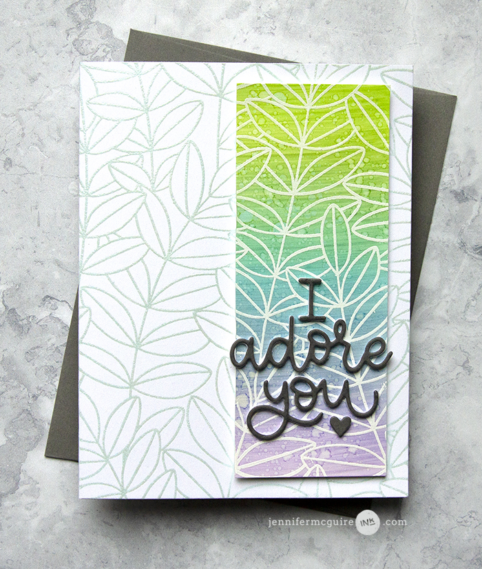 Using Scraps on Cards Video by Jennifer McGuire Ink
