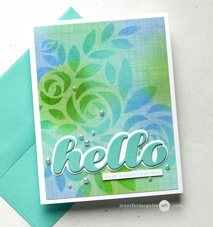 2193 Luscious Script Hello craft die