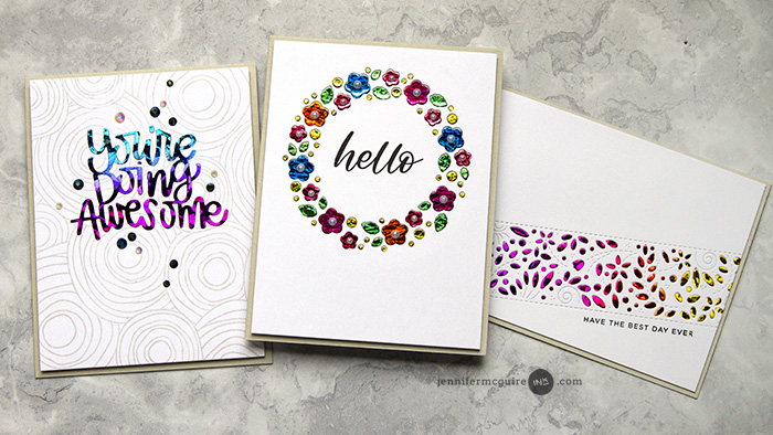 Foil Die Cutting Video by Jennifer McGuire Ink