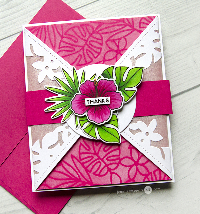 Triangle Gatefold Card Video by Jennifer McGuire Ink