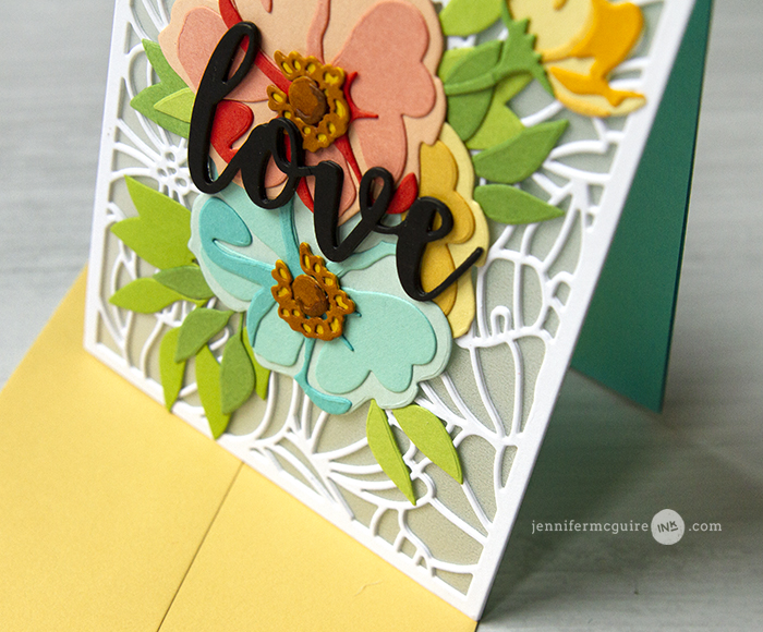 See Through Die Cut Cards Video by Jennifer McGuire Ink