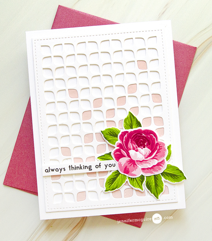 Most Stamp Layering Tips Video by Jennifer McGuire Ink