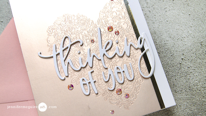 Faux Metal Etching Video by Jennifer McGuire Ink