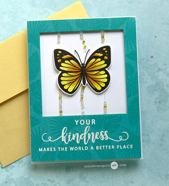 Beaded Slider Cards Video by Jennifer McGuire Ink