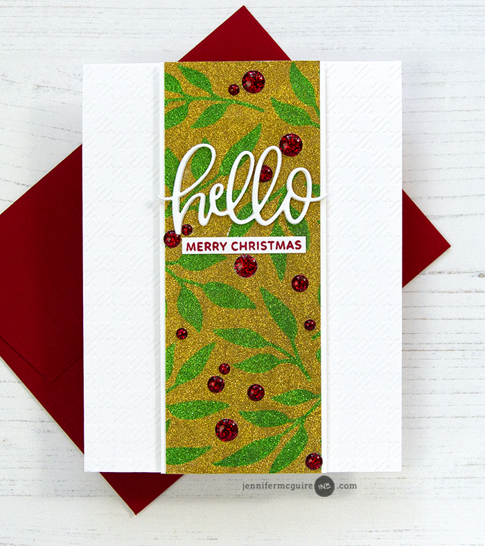 Glitter Stenciling Video by Jennifer McGuire Ink