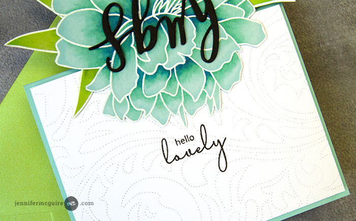Swing Reveal Card Video by Jennifer McGuire Ink