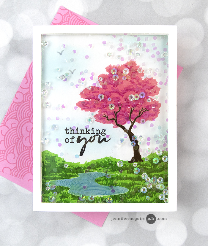Shaker Front Card Video by Jennifer McGuire Ink
