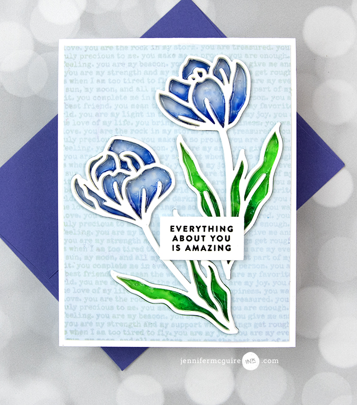 Stained Glass Window Card Video by Jennifer McGuire Ink