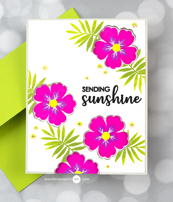 Die Cut Window Cards Neon Video by Jennifer McGuire Ink