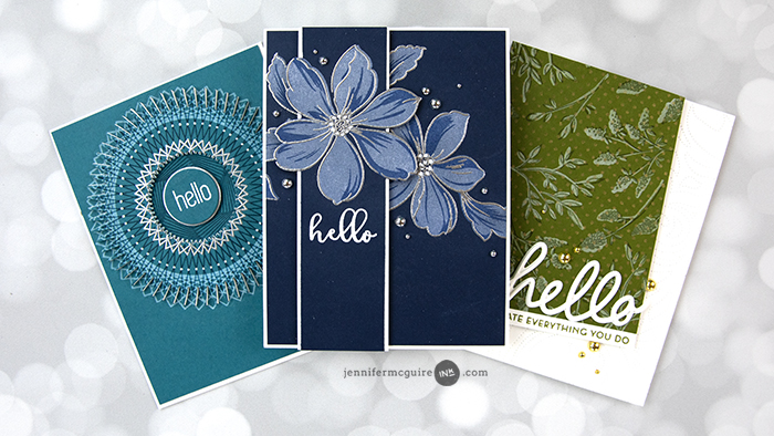 Stamp Layering Dark Cardstock Video by Jennifer McGuire Ink