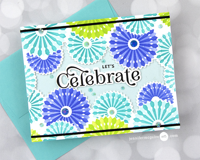 Card Showcase Pinwheel Party Video by Jennifer McGuire Ink