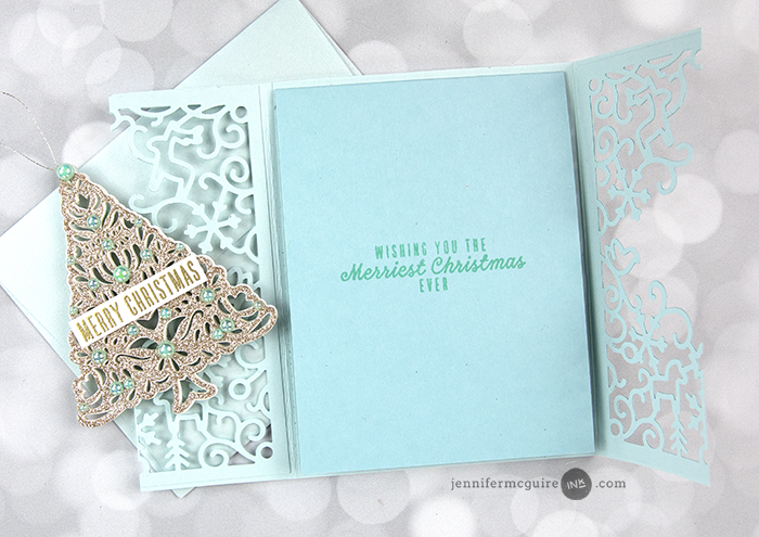 Belly Band Ornament Cards Video by Jennifer McGuire Ink