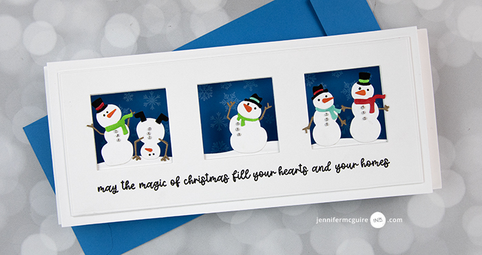 Slimline Shadow Box Cards Video by Jennifer McGuire Ink