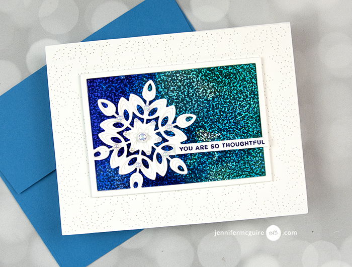 94513 Pinpoint Snowflake Plate