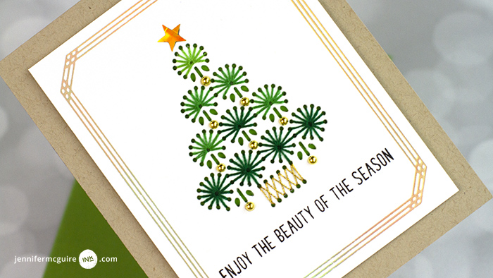 Stitched and Foiled Cards Video by Jennifer McGuire Ink