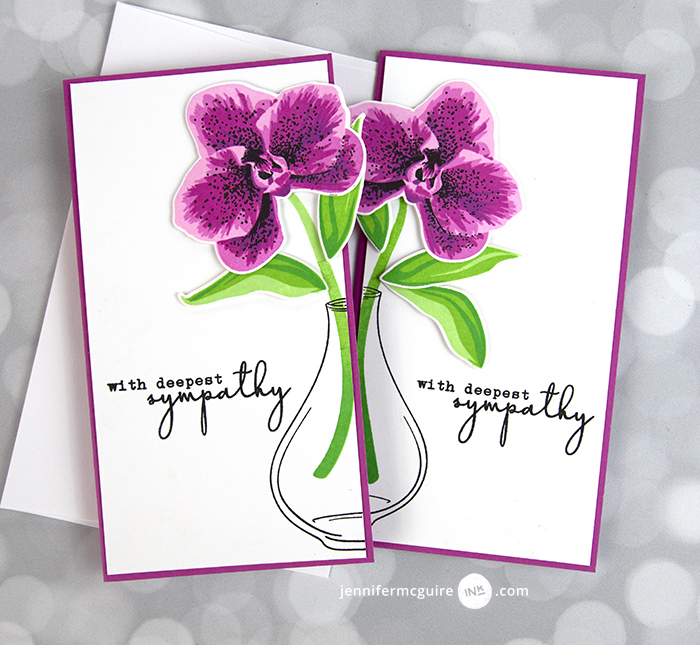 Split 2 For 1 Cards Video by Jennifer McGuire Ink