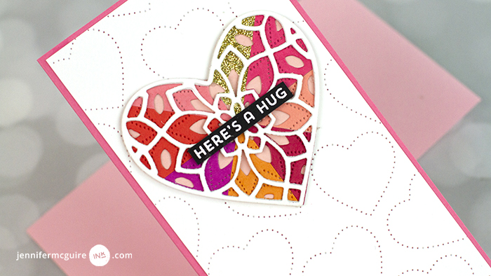 Colorful Die Cut Layering Techniques Video by Jennifer McGuire Ink