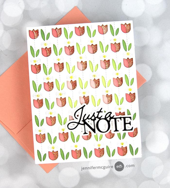 94527 Just a Note Posh Script craft die