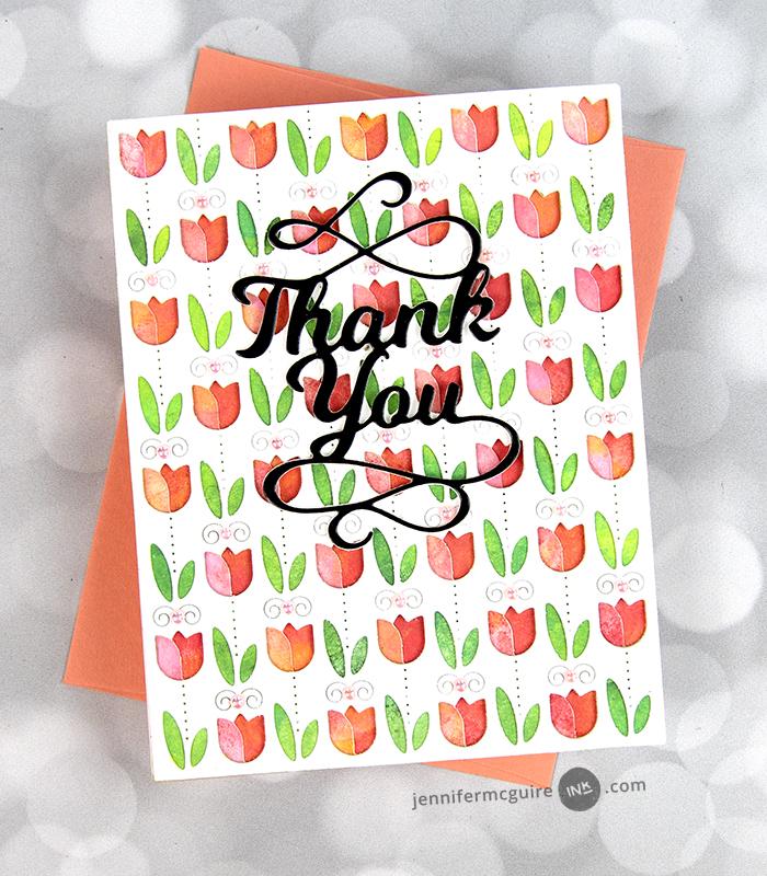 2376 Thank You Flourish craft die