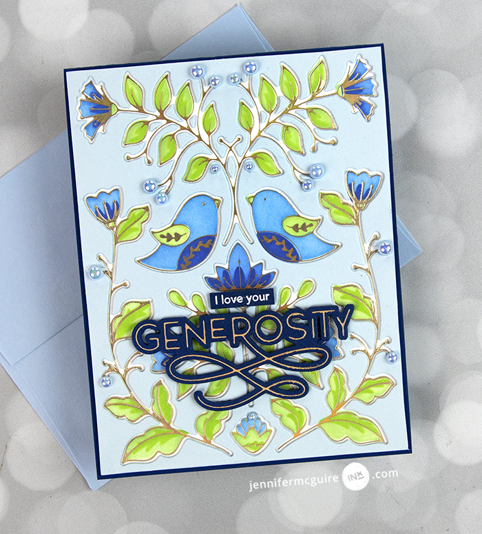 Foil and Stencil Cards Video by Jennifer McGuire Ink
