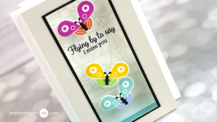 Easy Shadow Box Card Video by Jennifer McGuire Ink