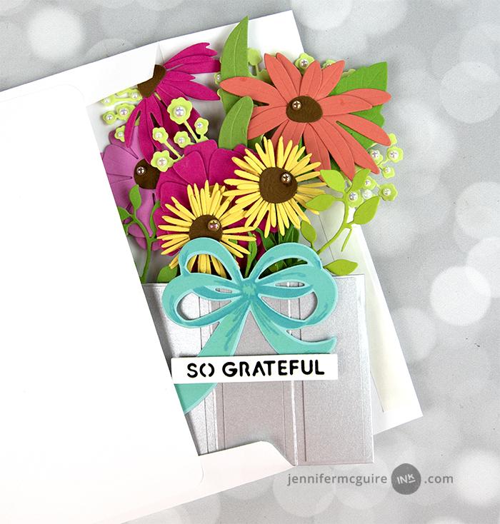 Pop-Up Flower Vase Card Video by Jennifer McGuire Ink