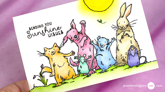 Stamped Postcards with FREE Download Video by Jennifer McGuire Ink