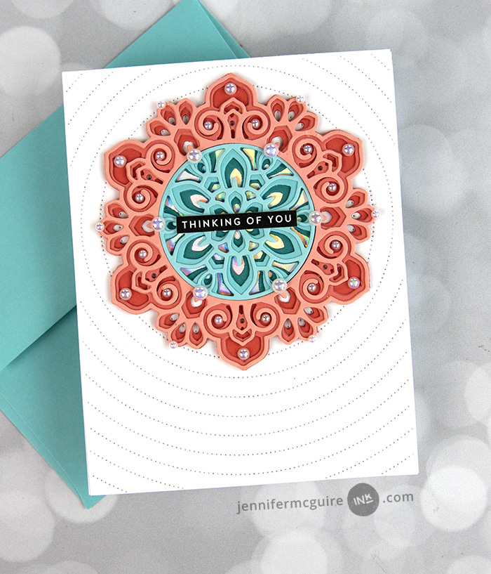 Using Layering Dies Creatively Video by Jennifer McGuire Ink